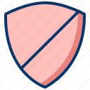 alert, firewall, no protection, risk, security, unsafe icon