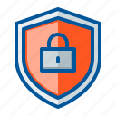 lock, protection, security, shield