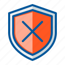 security, shield, warning