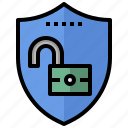 open, padlock, secure, security, tools, unlock, unlocked icon