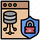 computers, interface, locked, protection, security, seo, server icon