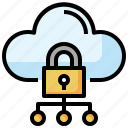 cloud, computing, lock, security, data