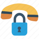 call, lock, phone, protect, secure icon