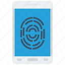 finger, lock, phone, protection, secure icon