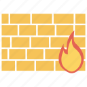 firewall, protection, safety, security, wall icon