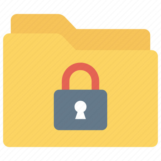 files, folder, lock, protection, secure icon