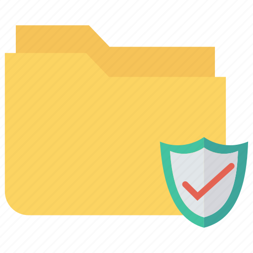 files, folder, protection, secure, shield icon