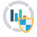 chart, graph, protection, secure, shield icon