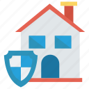 home, house, protection, security, shield icon