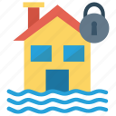 home, house, lock, protection, secure icon