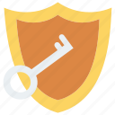 key, lock, protect, secure, shield icon