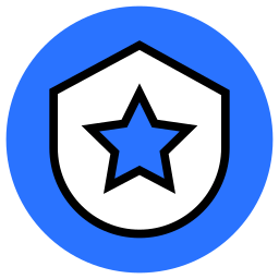 law, protect, safe, safety, secure, security, shield, star icon