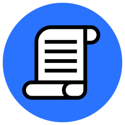 document, law, note, paper, scroll, terms, text, write icon