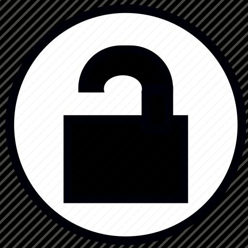 blank, lock, open, safety, security, unlocked icon