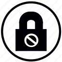 close, dont, lock, safety, security icon