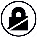 lock, none, safety, security icon