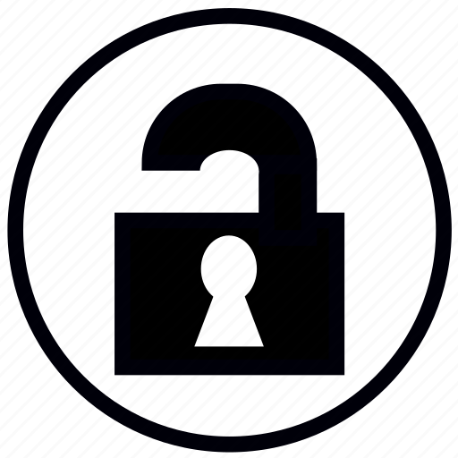 lock, open, safety, security icon