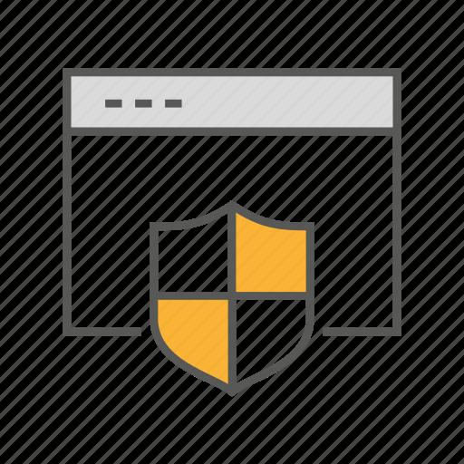 defense, privacy, protection, security, shield, web icon