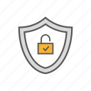 defense, lock, privacy, protection, security, shield icon