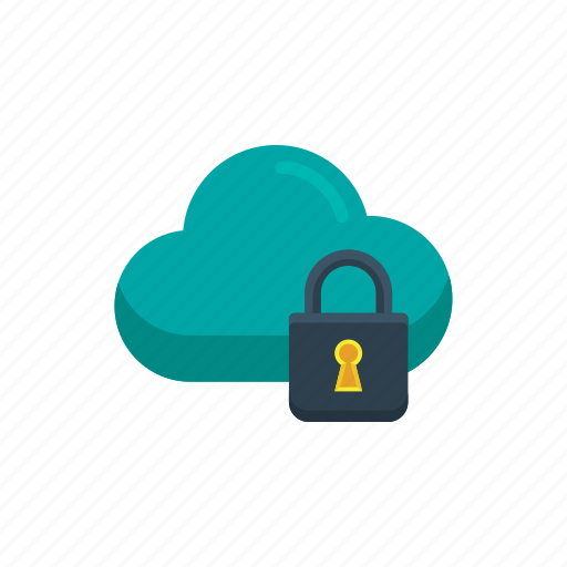 cloud, data, network, secure, security, server, storage icon