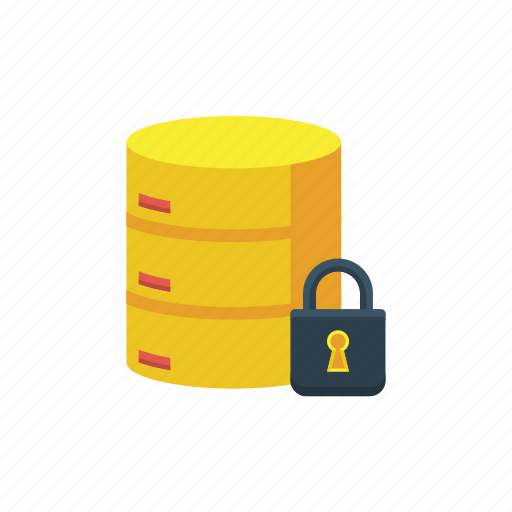 data, database, encrypted, hosting, protection, security, server icon
