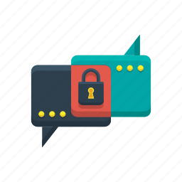 chat, comment, conversation, encrypted, message, messaging, text icon