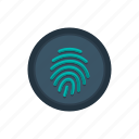 biometric, finger, fingerprint, id, identification, scan, touch icon
