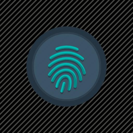 biometric, finger, fingerprint, id, identification, scan, touch icon