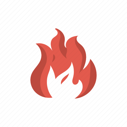danger, emergency, fire, flame, hot, light, threat icon