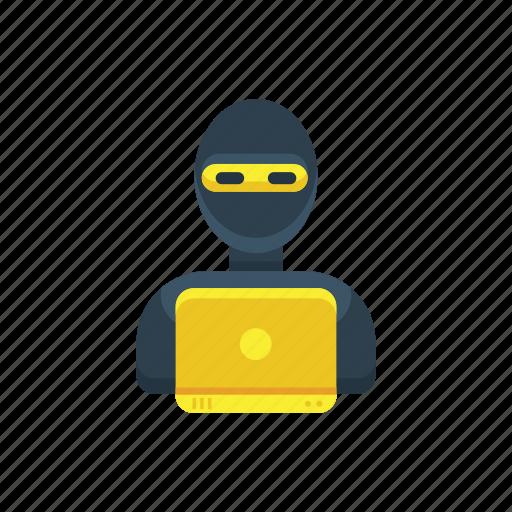 agent, crime, criminal, cyber, hacker, spy, thief icon