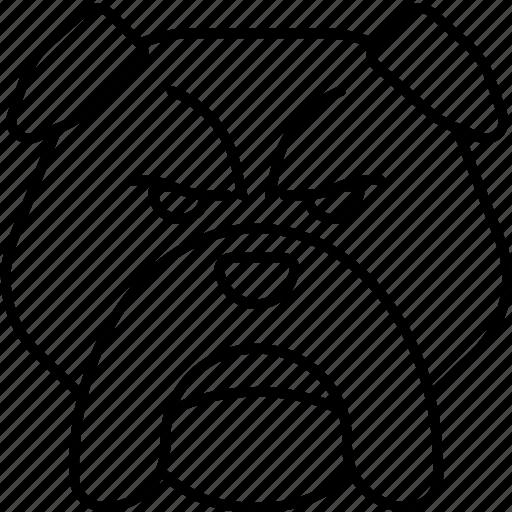 bulldog, dog, pet icon
