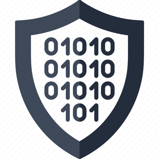 binary, data, encryption, file, network, protection, security icon