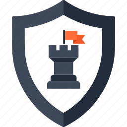 chess, goal, guard, rook, security, strategy, tower icon
