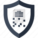data, decryption, encode, encryption, file, security, shield icon