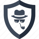 detective, incognito, investigator, protection, security, spy, thief icon