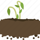 earth, farm, garden, growth, plant, seeding, yumminky icon