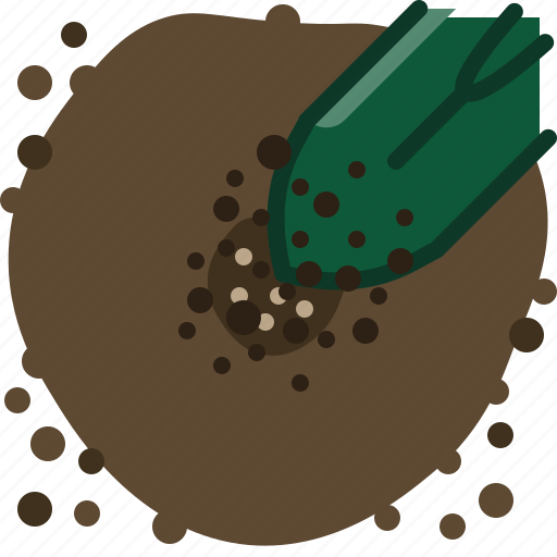 earth, garden, hole, pouring, seeding, seeds, yumminky icon