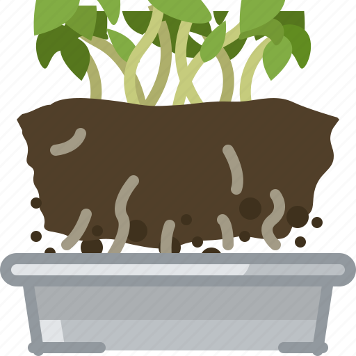 flower, plant, pot, replanted, seeding, tin, yumminky icon