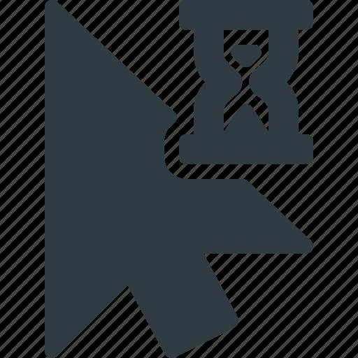 Cursor, mouse, busy, pointer, arrow icon