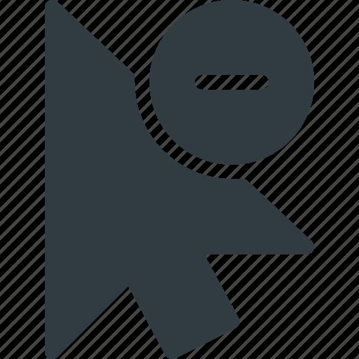 arrow, cursor, mouse, pointer, remove, selection icon