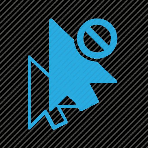 arrow, click, cursor, disable, mouse, pointer icon