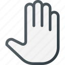 cirsor, grab, hand, hold, mouse, open icon