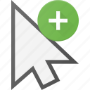 add, arrow, cursor, mouse, pointer icon