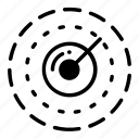 autonomous, detector, lidar, mid range, radar, signal icon