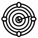 icon, line, target, marketing