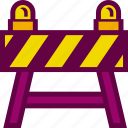 barrier, construction, resctricted, road, traffic icon