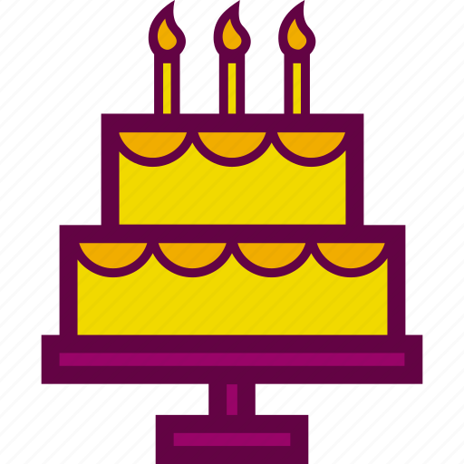 birthday, cake, candles, food, party icon