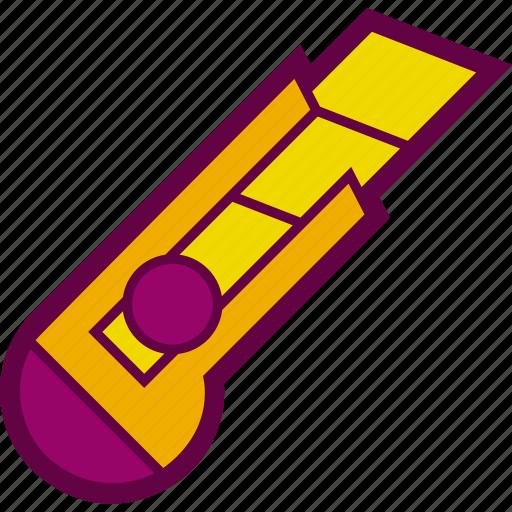 blade, cardboard, cutter, knife, tool icon