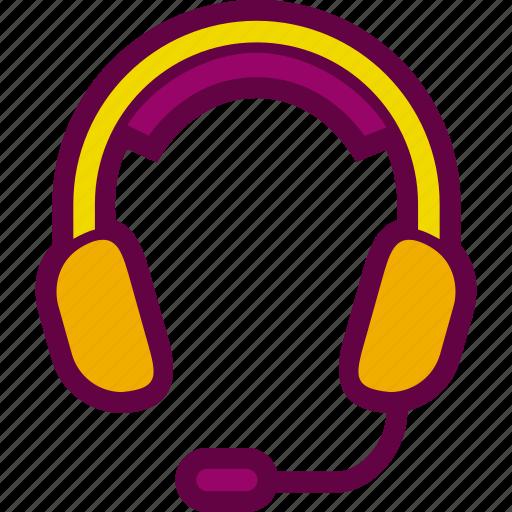 call, center, headphones, headset, mic icon