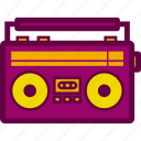 cassette, music, old, radio, recorder icon